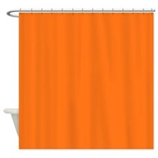Solid Pumpkin Orange Shower Curtain