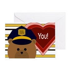 You - Hero Of Your Heart - Police Valentine Card