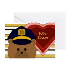 Dad - Hero Of Your Heart - Police Valentine Card