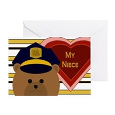 Niece - Hero Of Your Heart - Police Valentine Card