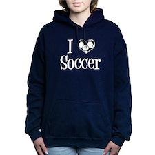 I Heart Soccer Women's Hooded Sweatshirt