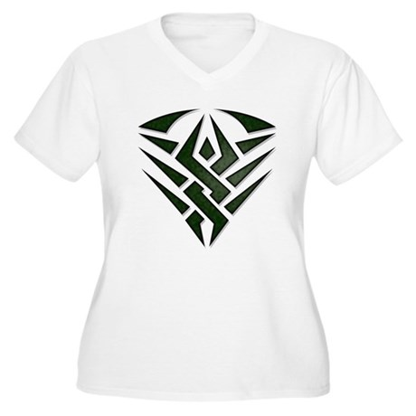 Tribal Badge Women's Plus Size V-Neck T-Shirt
