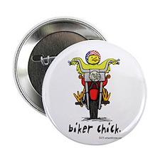 """Biker Chick 2.25"""" Button (100 pack)"""