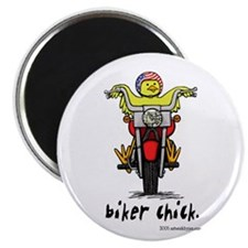 "Biker Chick Gear 2.25"" Magnet (10 pack)"