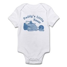Daddy's Little Racer In Blue Infant Bodysuit