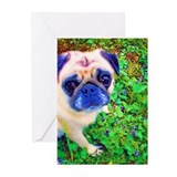 Baby's Close Up Pug Greeting Cards (Pk of 10)