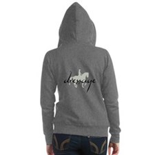 Dressage Silhouette Text Women's Zip Hoodie