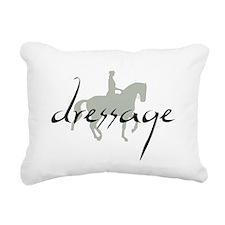 Dressage Silhouette Text Rectangular Canvas Pillow