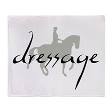 Dressage Silhouette Text Throw Blanket