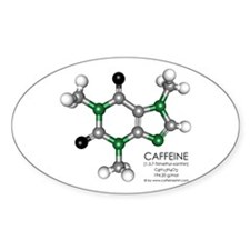 Caffeine Molecule Oval Decal