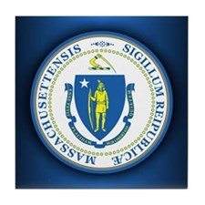 Massachusetts Seal Tile Coaster