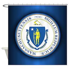 Massachusetts Seal Shower Curtain
