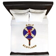 Saltire Golf Scotland Red Tartan King Duvet