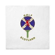 Saltire Golf Scotland Green Tartan Queen Duvet