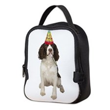 Springer Spaniel Birthday Party Neoprene Lunch Bag