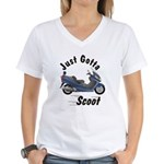 Just Gotta Scoot Burgman Women's V-Neck T-Shirt