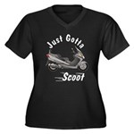 Just Gotta Scoot Burgman Women's Plus Size V-Neck