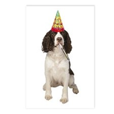 Springer Spaniel Birthday Party Postcards (Package