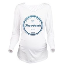 Snowbasin Ski Resort Utah Long Sleeve Maternity T-