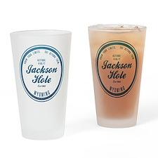 Jackson Hole Ski Resort Wyoming Drinking Glass