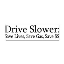 Cute Mileage Car Magnet 10 x 3