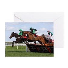 Steeplechaser Racehorse Greeting Cards