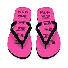 Pink Cheer Mom Flip Flops