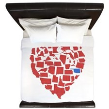 Oklahoma Heart King Duvet