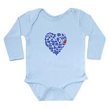 Oregon Heart Long Sleeve Infant Bodysuit