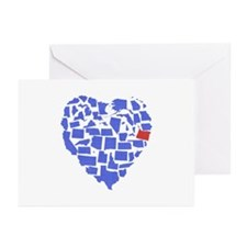 Oregon Heart Greeting Cards (Pk of 20)
