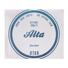 Alta Ski Resort Utah Throw Blanket