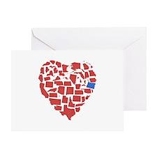 Oregon Heart Greeting Card