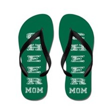 Green Cheer Mom Flip Flops