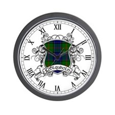 Colquholn Tartan Shield Wall Clock