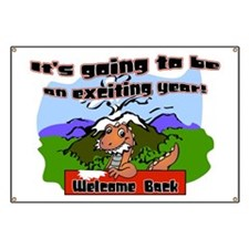 Back to School Dinosaur Banner