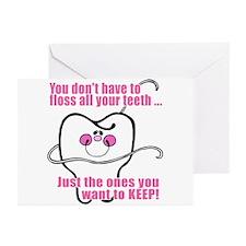 Keep Flossing! Dentist Greeting Cards (Package of