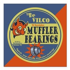 "DeVilco Muffler Bearings Square Car Magnet 3"" x 3"""