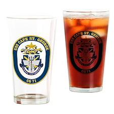 USS Cape St. George CG-71 Drinking Glass