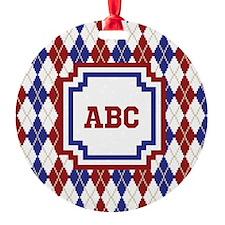 Americana Argyle Ornament
