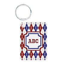 Americana Argyle Keychains