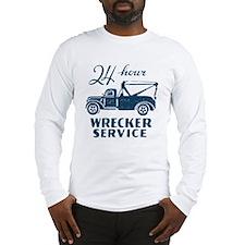 Retro Wrecking Truck Long Sleeve T-Shirt