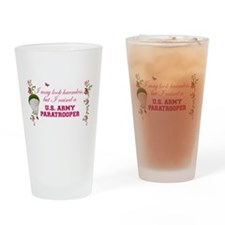 I Raised A Paratrooper Drinking Glass