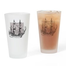 Antique tall ship Drinking Glass