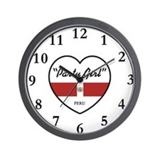Party Girl Peru Wall Clock