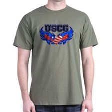 USCG Heart Flag T-Shirt