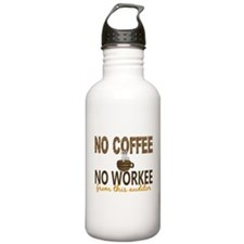 Auditor No Coffee No W Water Bottle