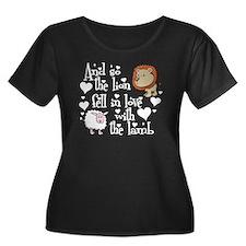 lionlambcutewhite Plus Size T-Shirt