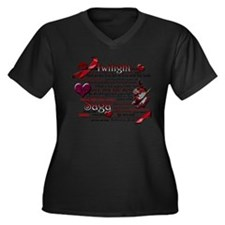 Twilight Book Quotes Plus Size T-Shirt