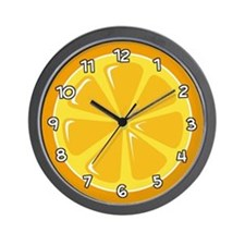 Orange Slice Wall Clock