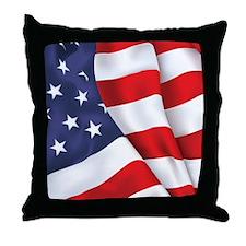 Flag Square Throw Pillow
